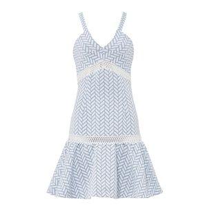 Shoshanna Blue Bandt Dress (0)